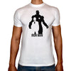 Phoenix WHITE Round Neck Printed T-Shirt Men (Iron man)