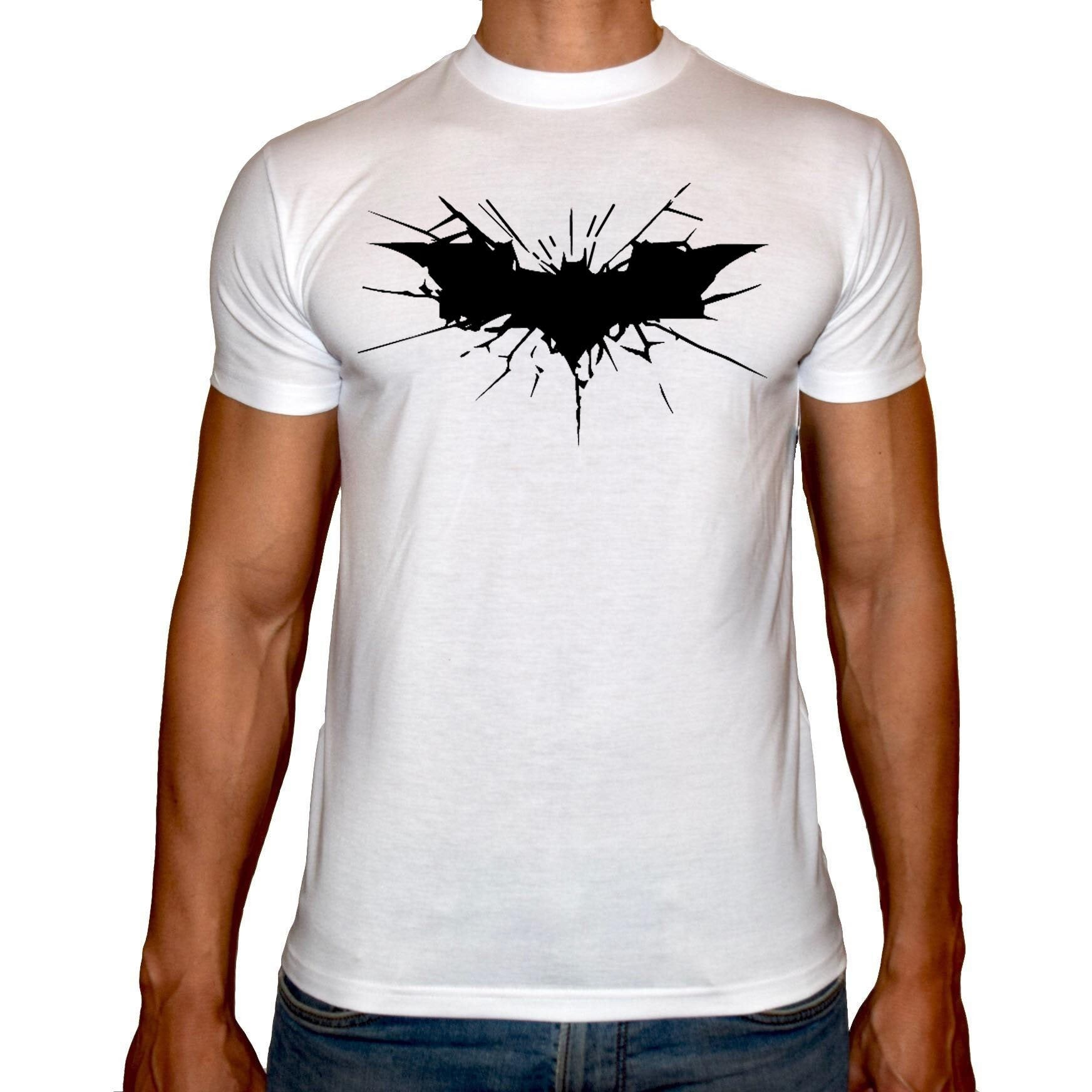 Phoenix WHITE Round Neck Printed T-Shirt Men (Batman)