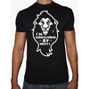 Phoenix BLACK Round Neck Printed T-Shirt Men (Lion king)
