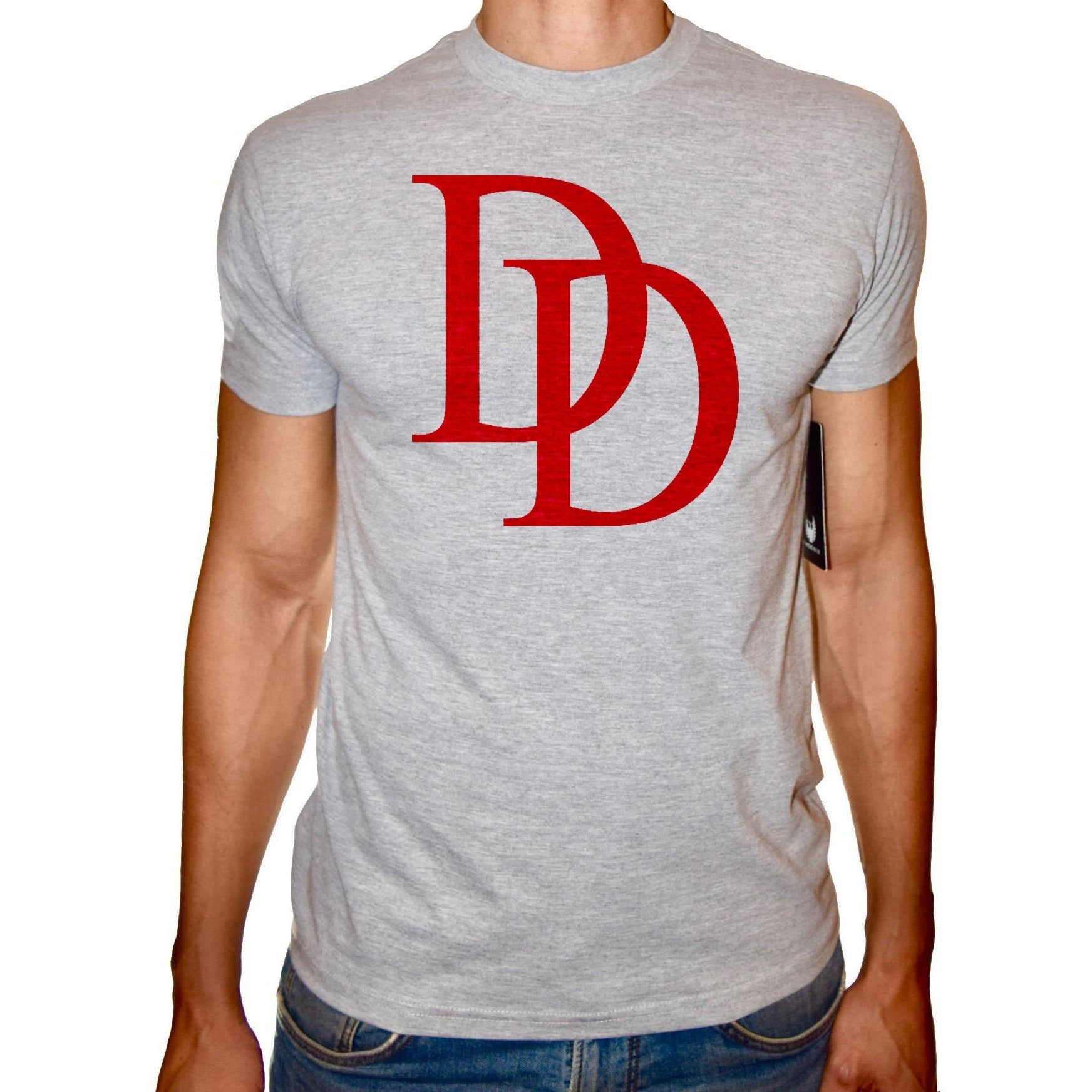 Phoenix GREY Round Neck Printed T-Shirt Men (Daredevil)