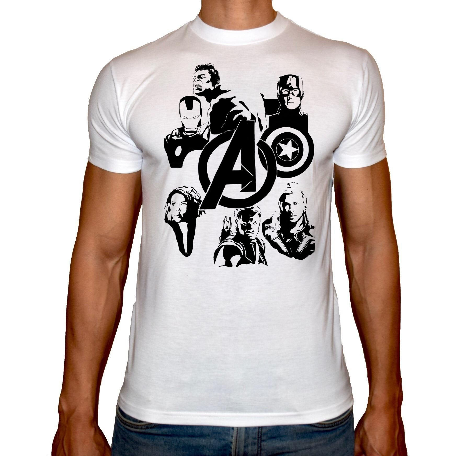 Phoenix WHITE Round Neck Printed T-Shirt Men (Avengers)
