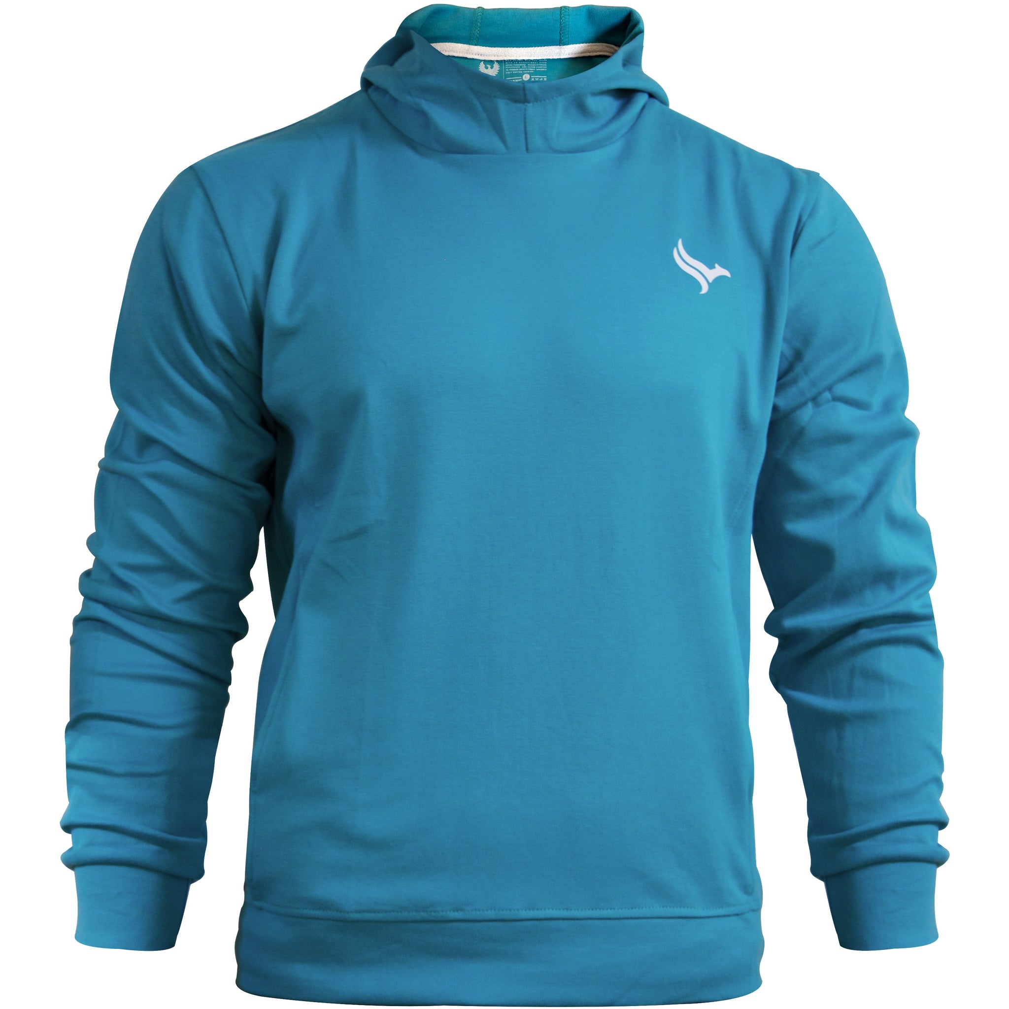 PHOENIX Teal Cotton Men's Hoodie