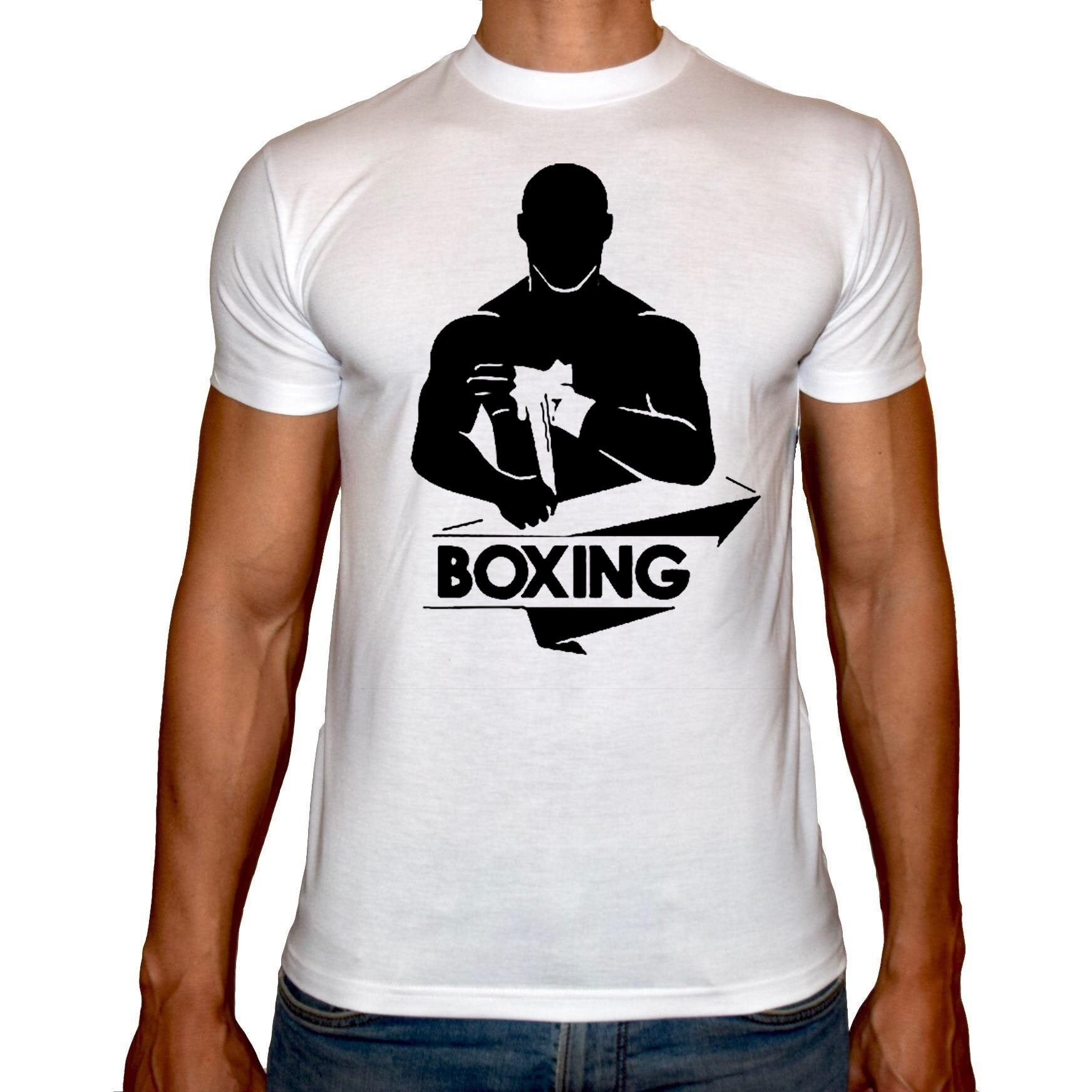 Phoenix WHITE Round Neck Printed T-Shirt Men (Boxing)
