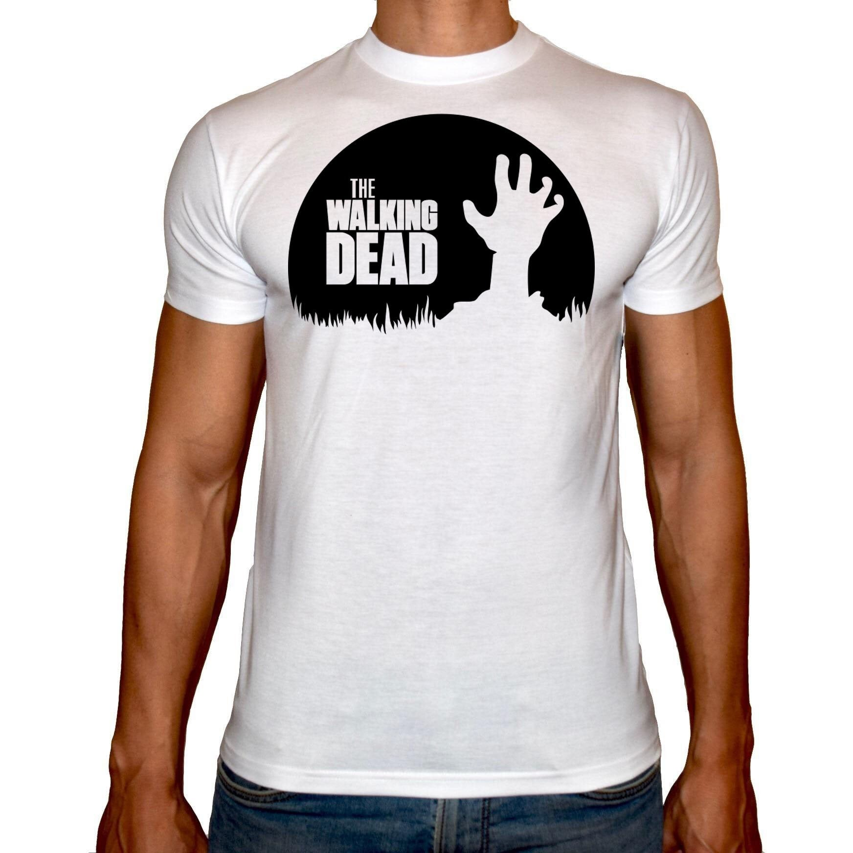 Phoenix WHITE Round Neck Printed T-Shirt Men (The walking dead)