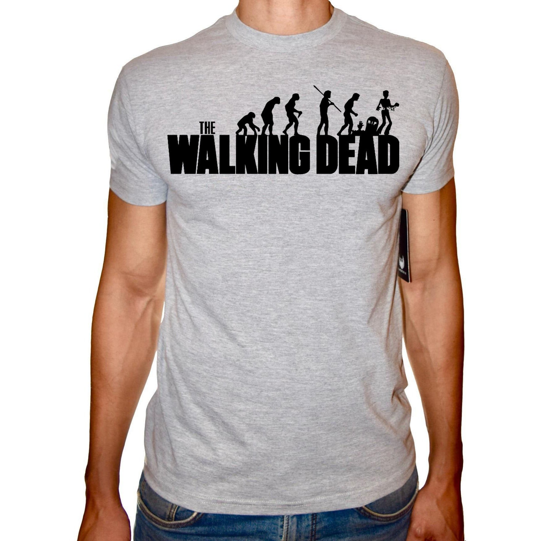 Phoenix GREY Round Neck Printed T-Shirt Men (The walking dead)