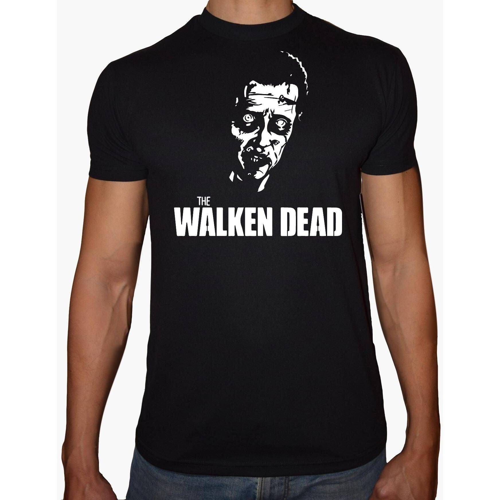 Phoenix BLACK Round Neck Printed T-Shirt Men (The walking dead)