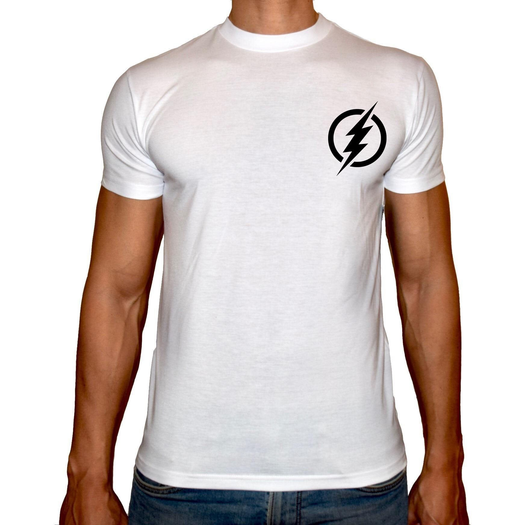 Phoenix WHITE Round Neck Printed T-Shirt Men (Flash)