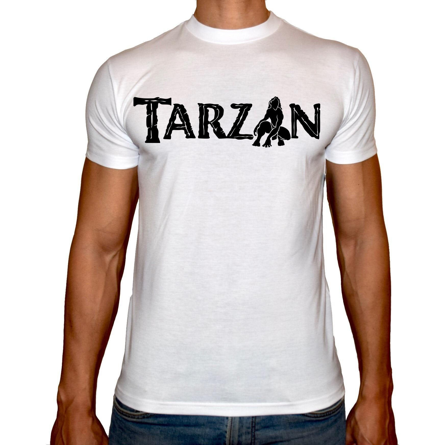 Phoenix WHITE Round Neck Printed T-Shirt Men (Tarzan)
