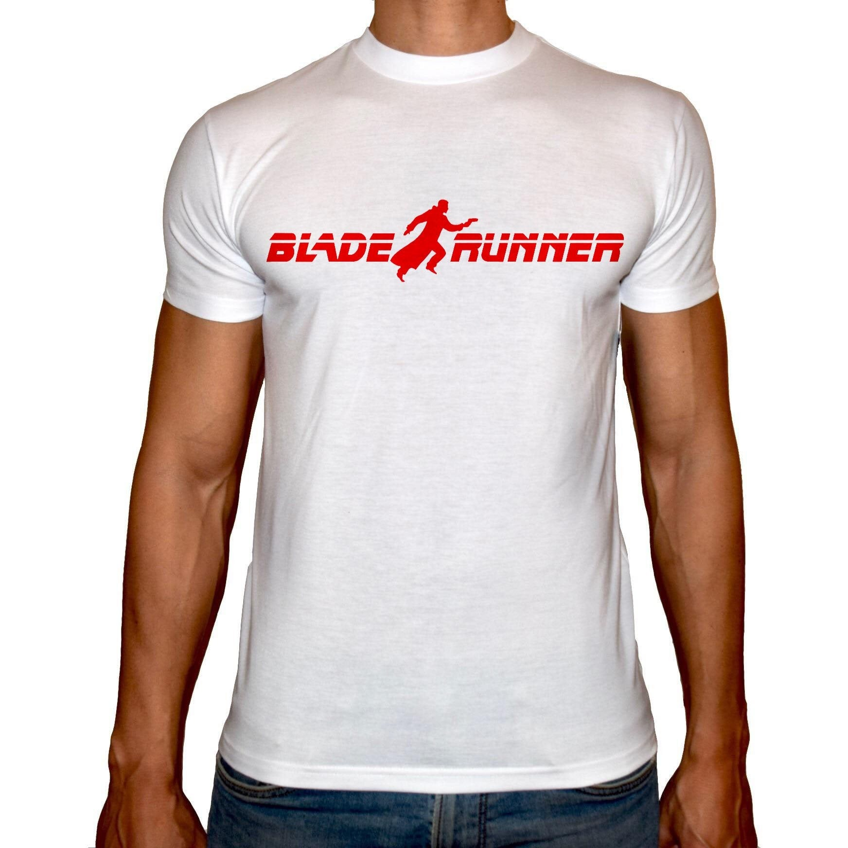Phoenix WHITE Round Neck Printed T-Shirt Men (Blade runner)