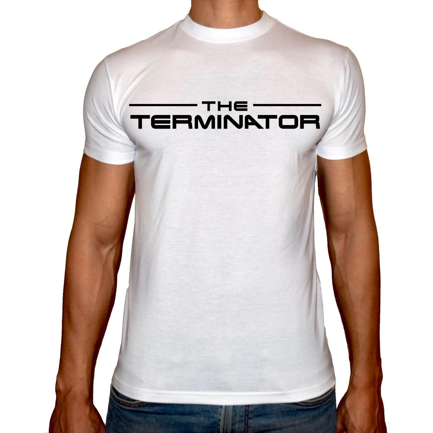 Phoenix WHITE Round Neck Printed T-Shirt Men (The terminator)