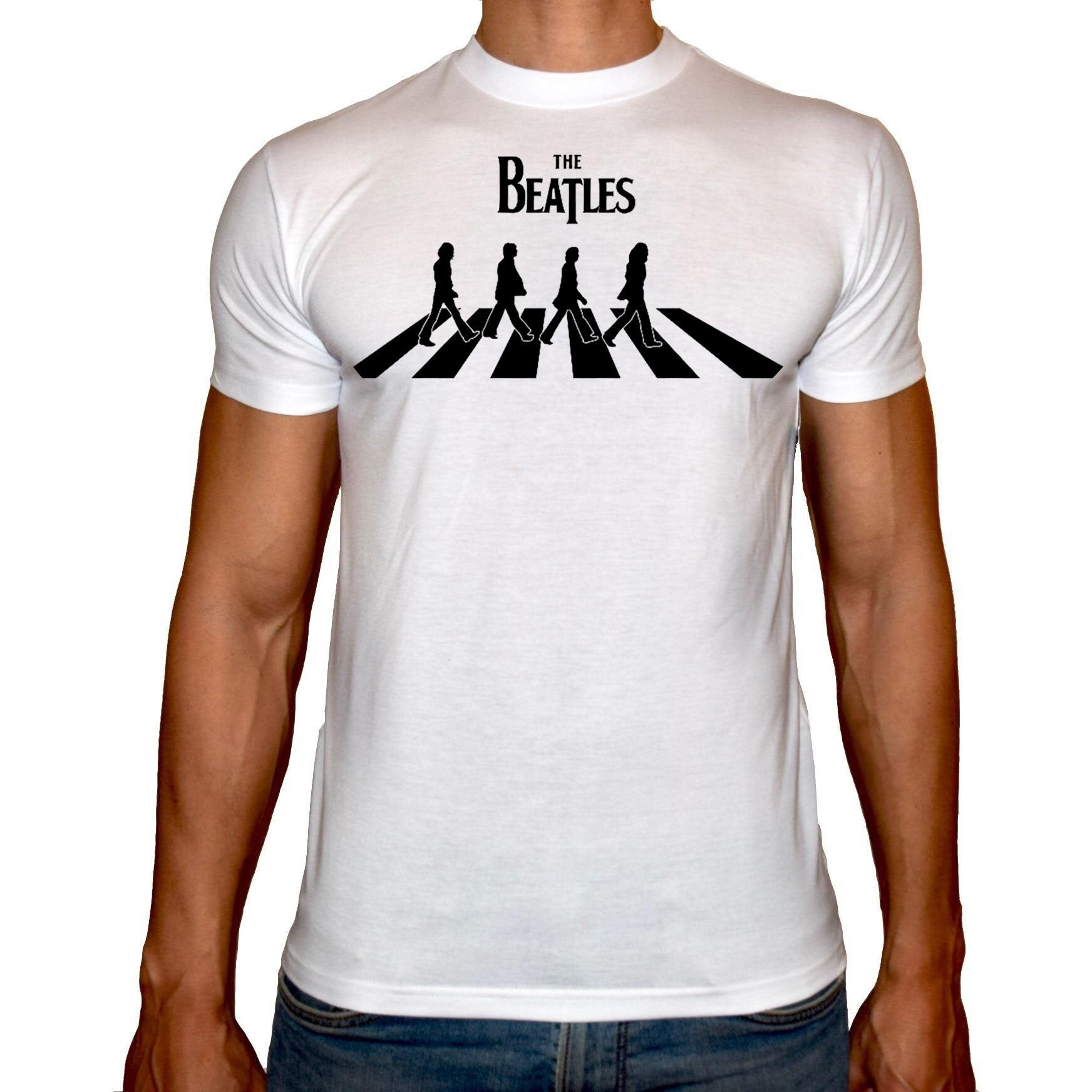 Phoenix WHITE Round Neck Printed T-Shirt Men (The beatles)