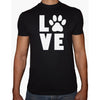 Phoenix BLACK Round Neck Printed T-Shirt Men (Love paws)