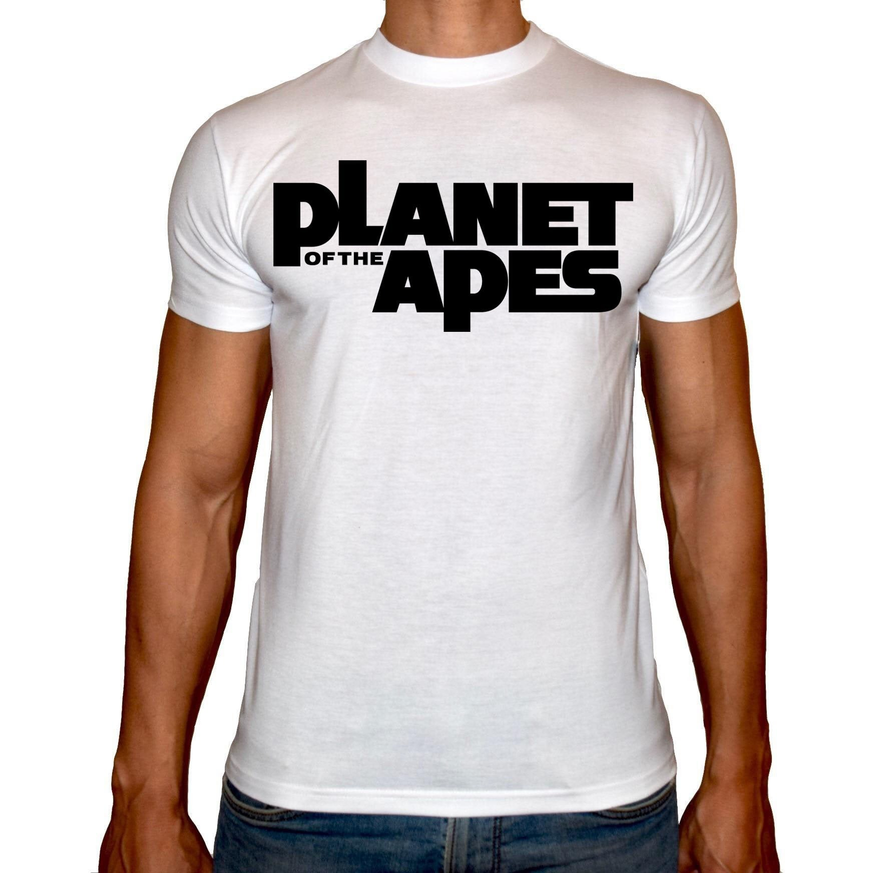 Phoenix WHITE Round Neck Printed T-Shirt Men (Planet of the apes)