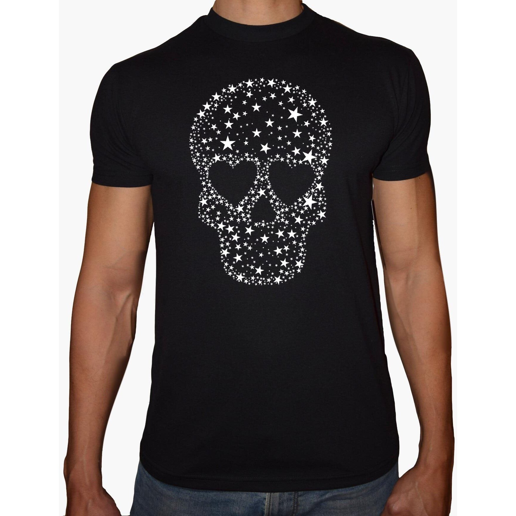 Phoenix Black Round Neck Printed Shirt Men (Skeleton)