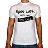 Phoenix WHITE Round Neck Printed Shirt Men (Bad luck )