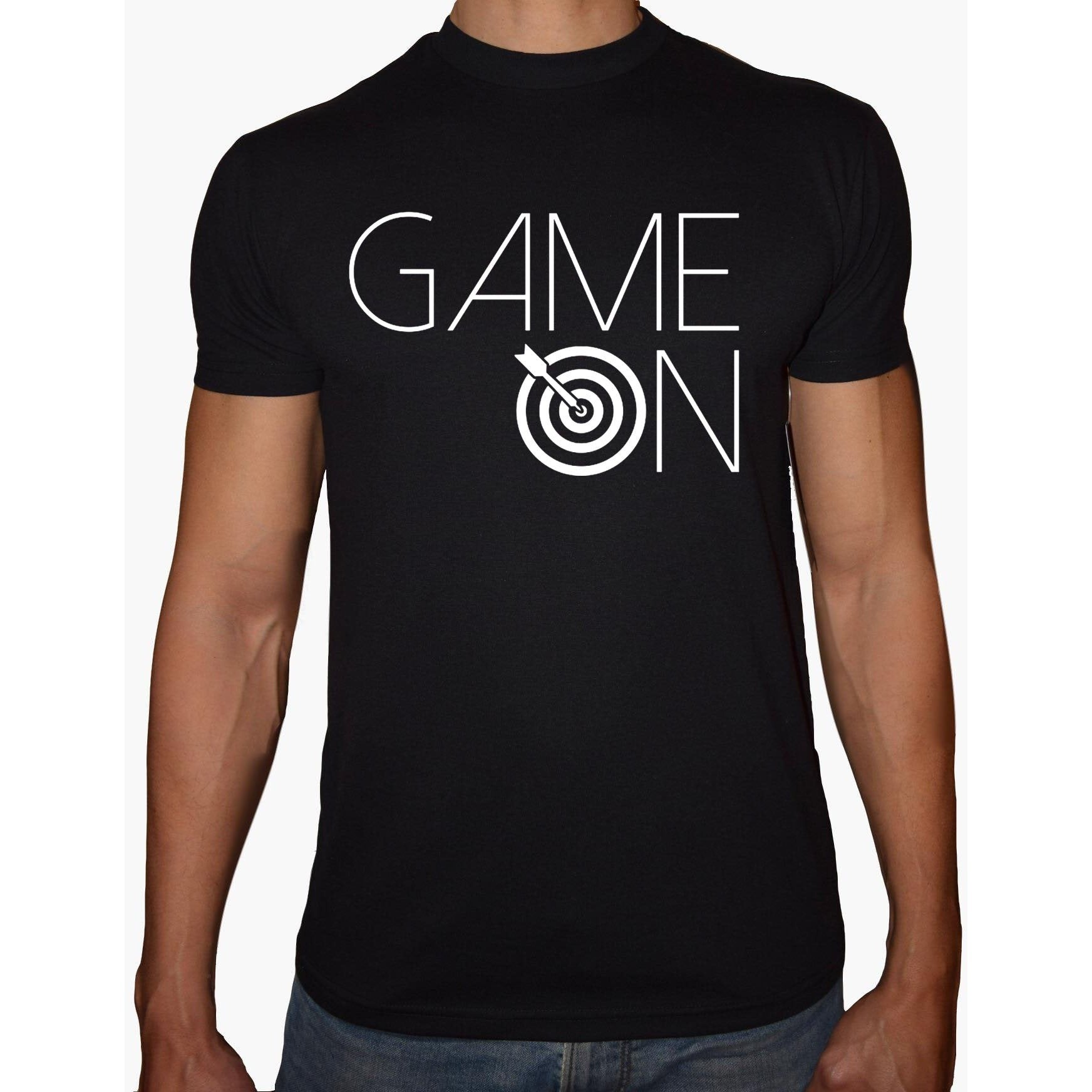 Phoenix Black Round Neck Printed Shirt Men (Game on)