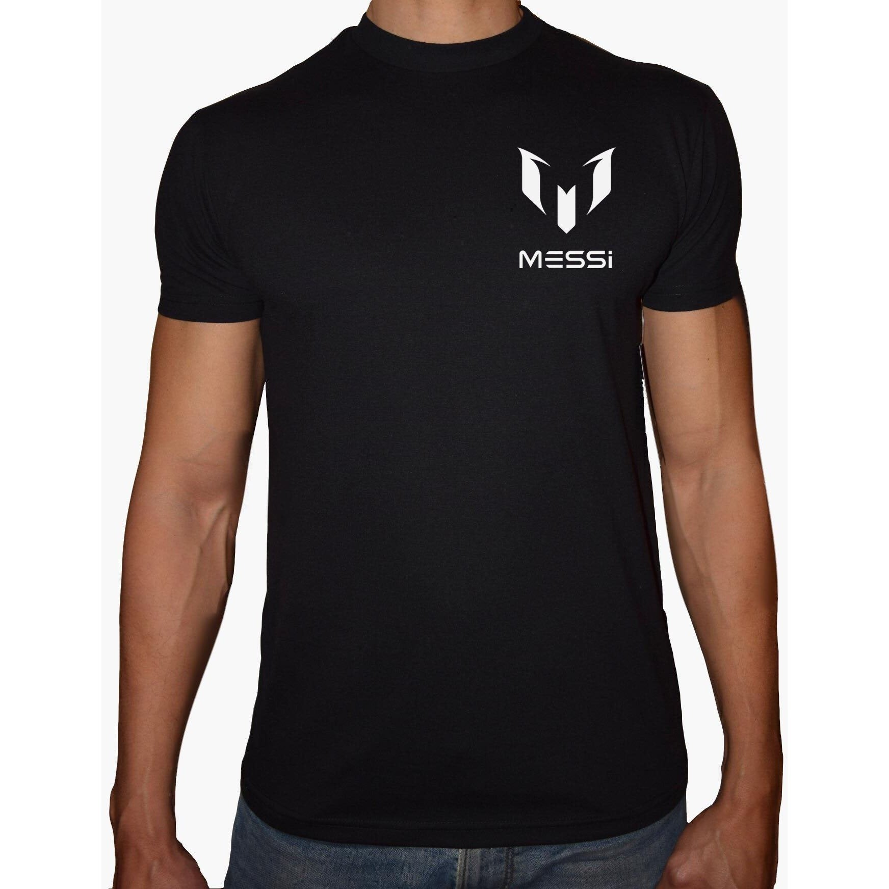 Phoenix BLACK Round Neck Printed T-Shirt Men (Messi)