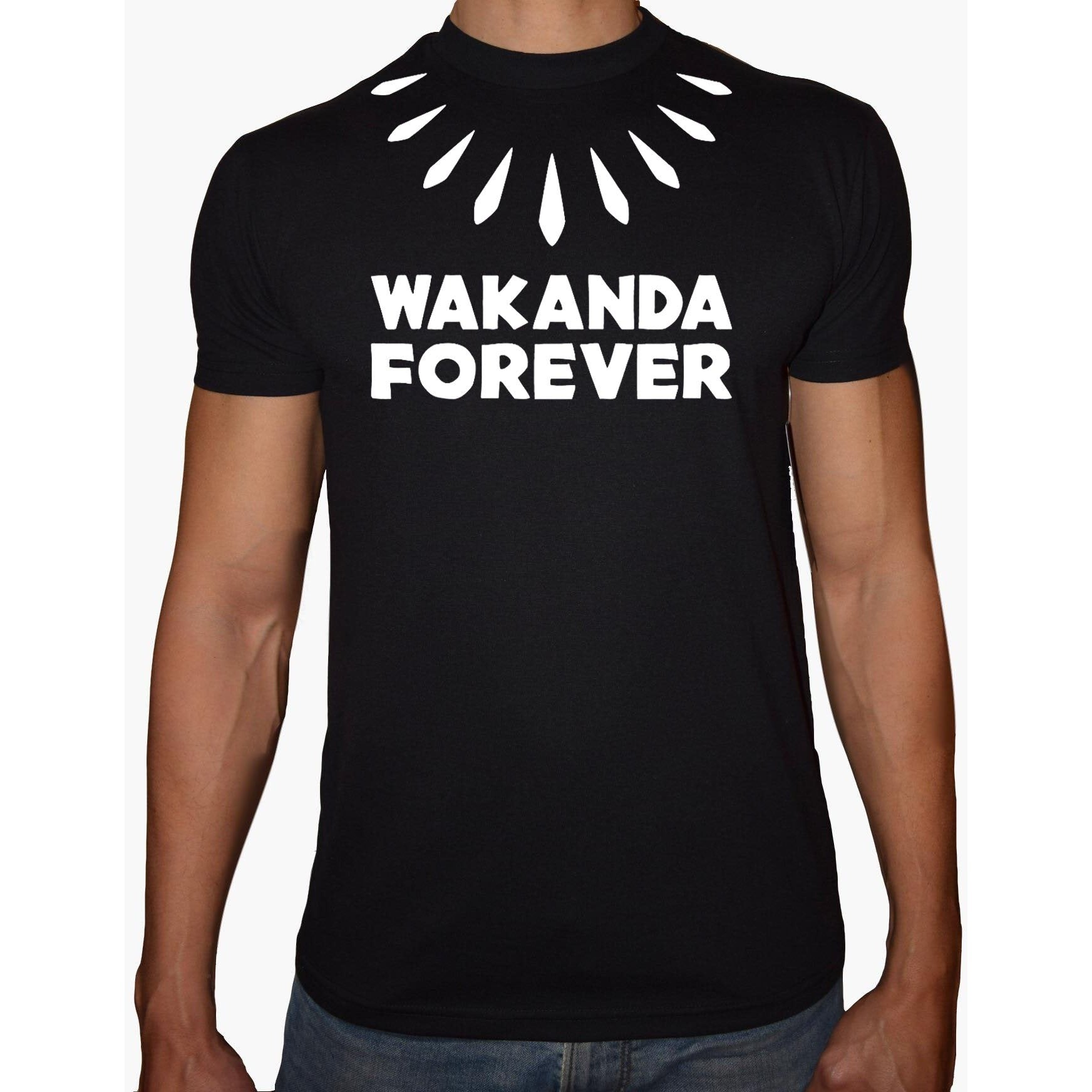 Phoenix Black Round Neck Printed Shirt Men (Wakanda)