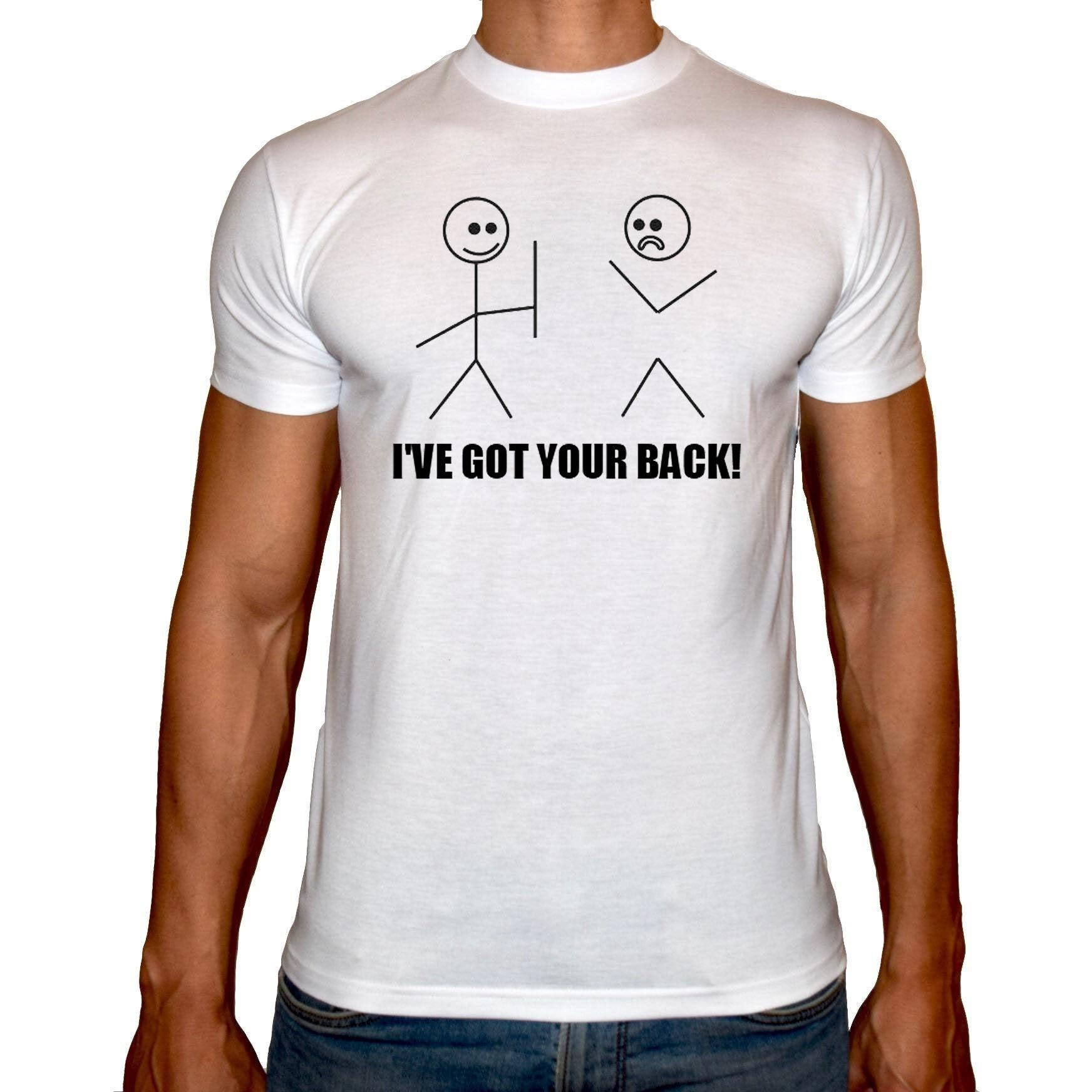 Phoenix WHITE Round Neck Printed Shirt Men (Got your back)