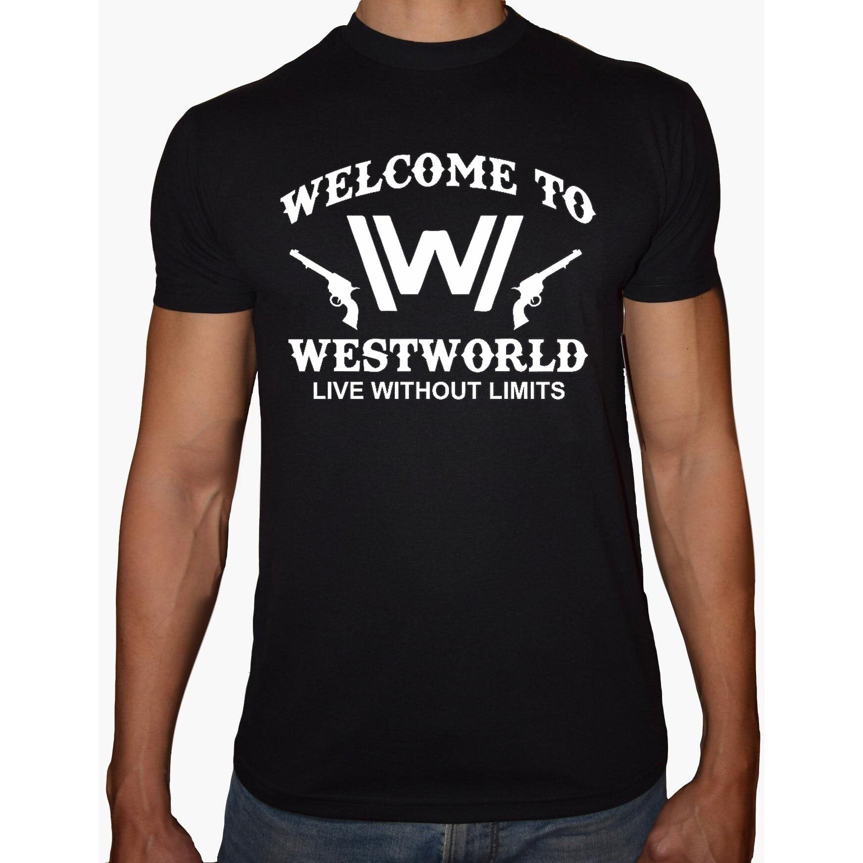 Phoenix Black Round Neck Printed Shirt Men (Westworld)
