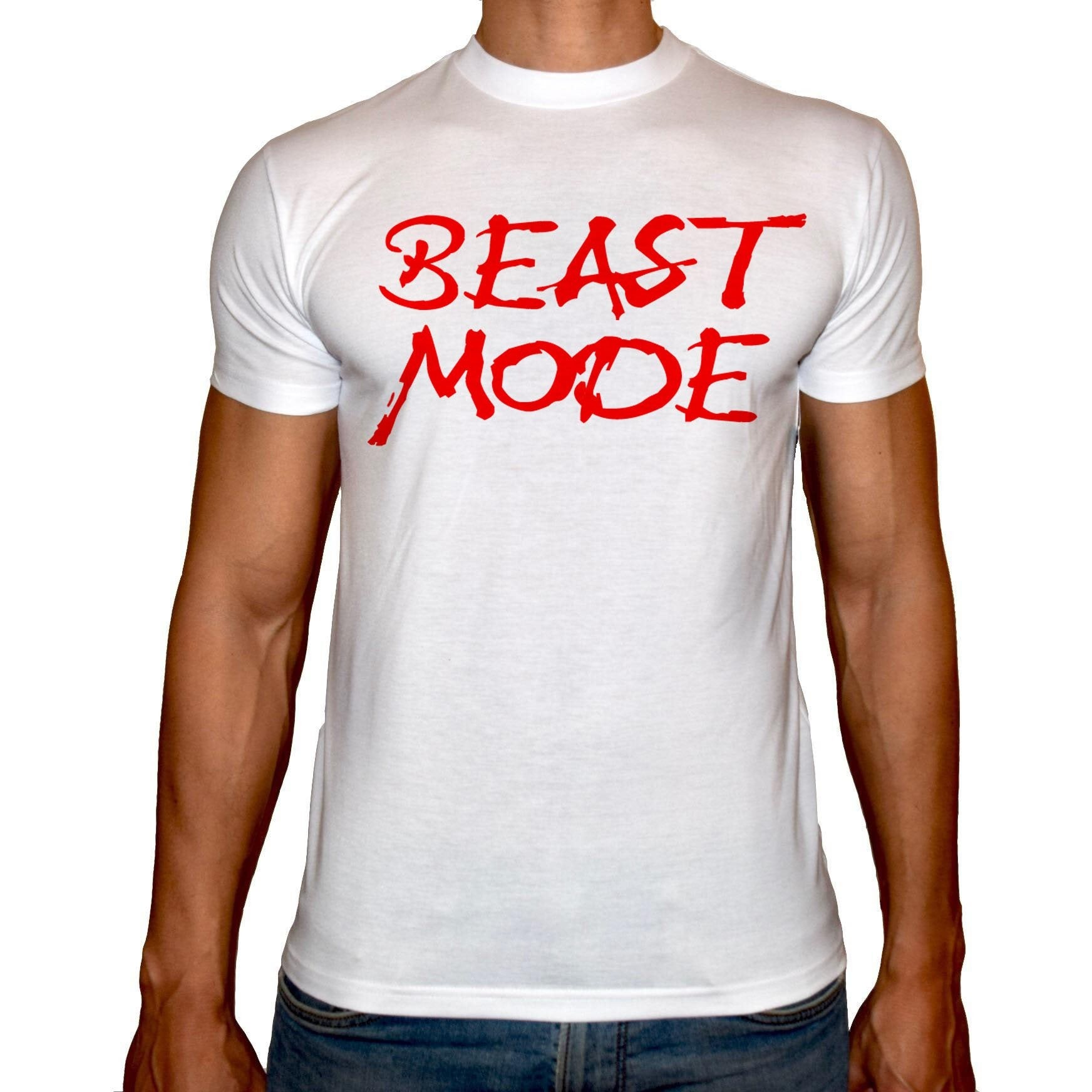 Phoenix WHITE Round Neck Printed Shirt Men (Beast mood )