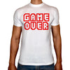 Phoenix WHITE Round Neck Printed Shirt Men (game over)