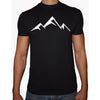 Phoenix BLACK Round Neck Printed T-Shirt Men (Mountain)
