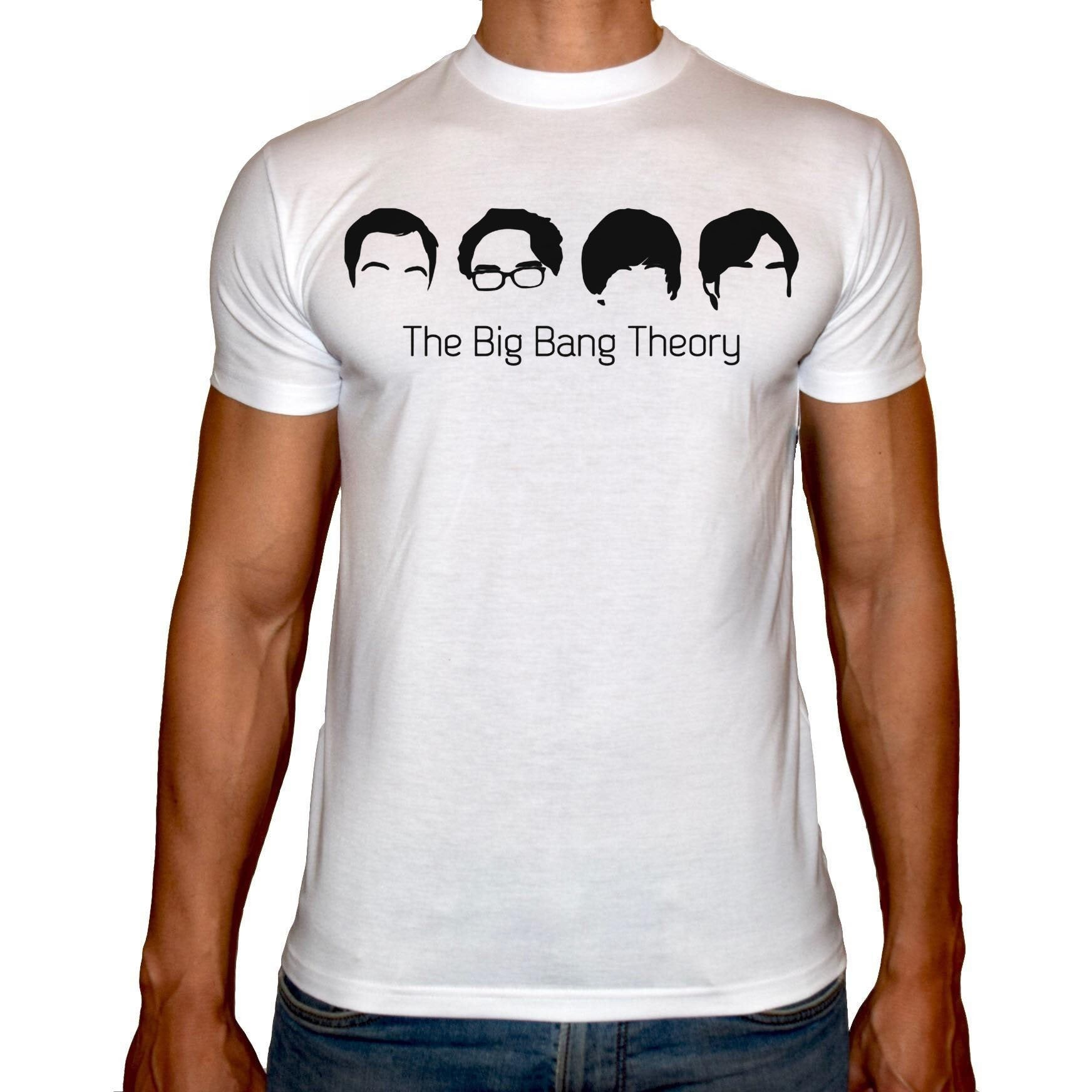 Phoenix WHITE Round Neck Printed T-Shirt Men (Big bang theory)