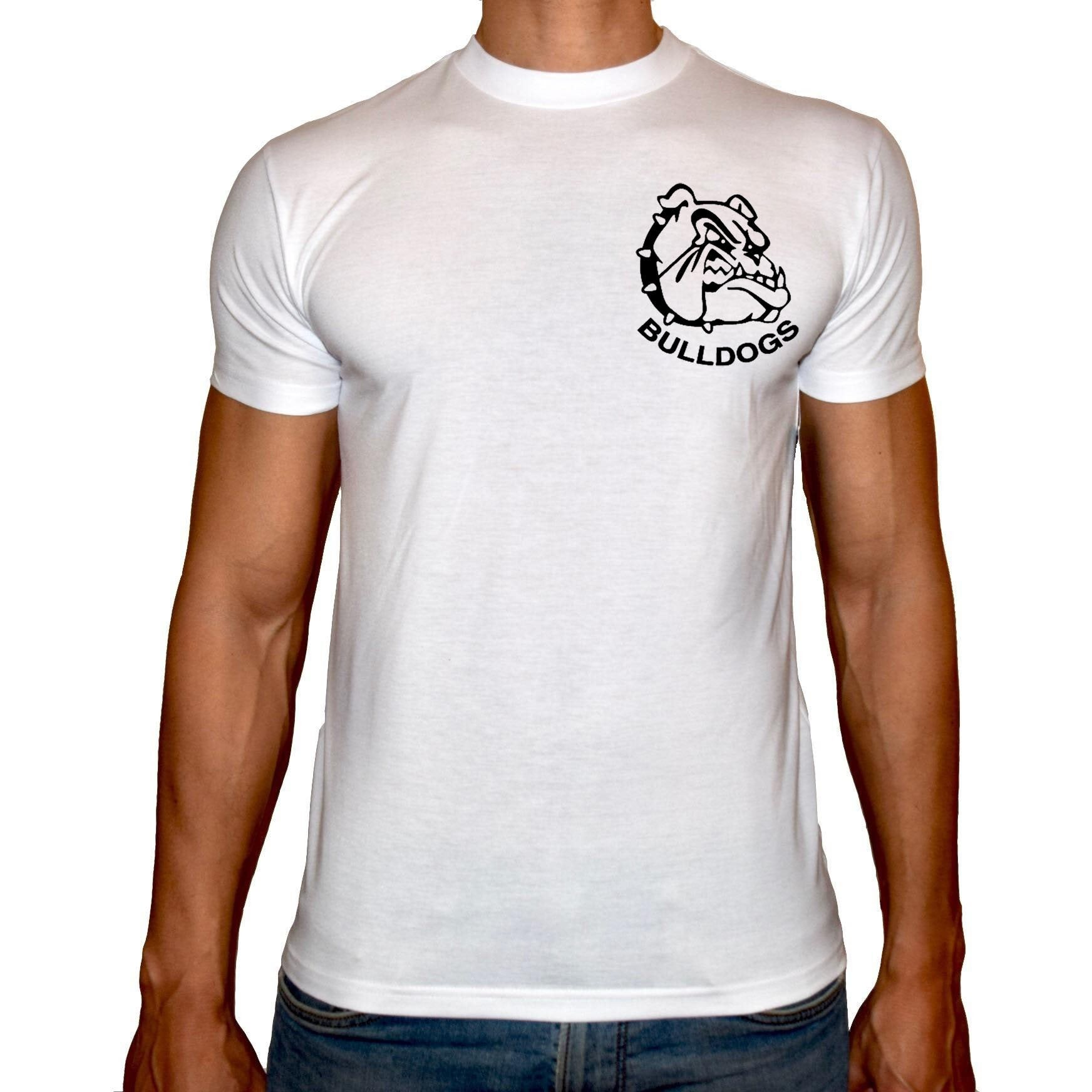 Phoenix WHITE Round Neck Printed T-Shirt Men (Bulldogs)