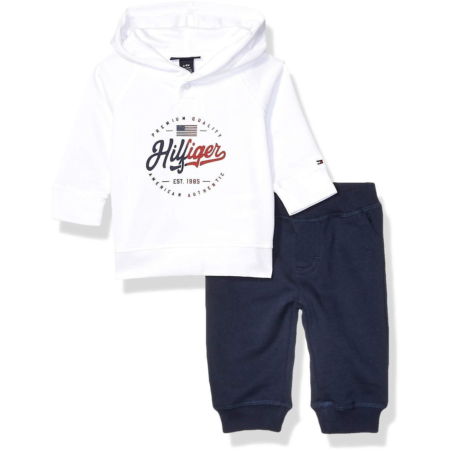Tommy Hilfiger Baby Boys 2 Pieces Pullover Pant Set 12 M