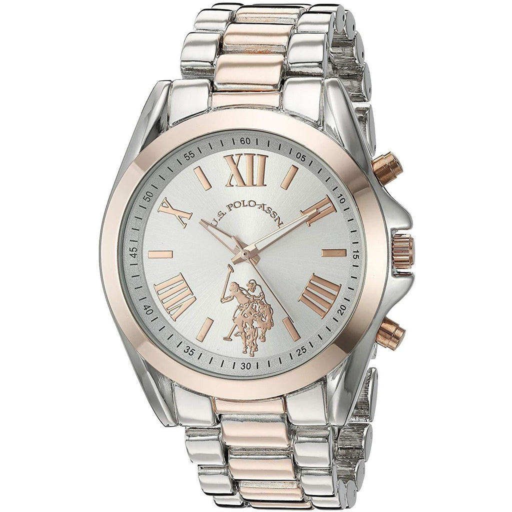 U.S. Polo Assn. Women's Silver Dial Alloy Band Watch - USC40118 - 3alababak