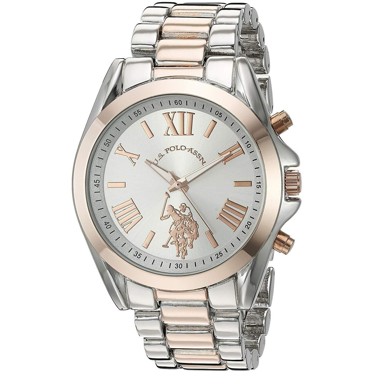 U.S. Polo Assn. Women's Silver Dial Alloy Band Watch USC40118