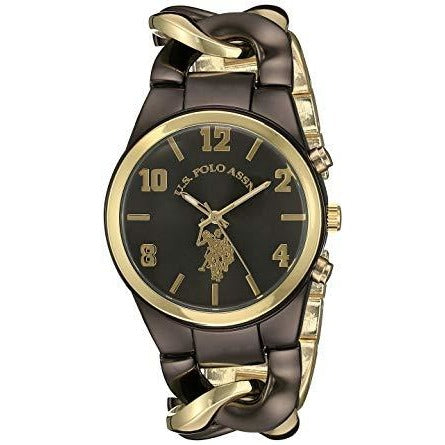 US Polo Assn Womens USC40177 Analog Display Analog Quartz Two Tone Watch - 3alababak
