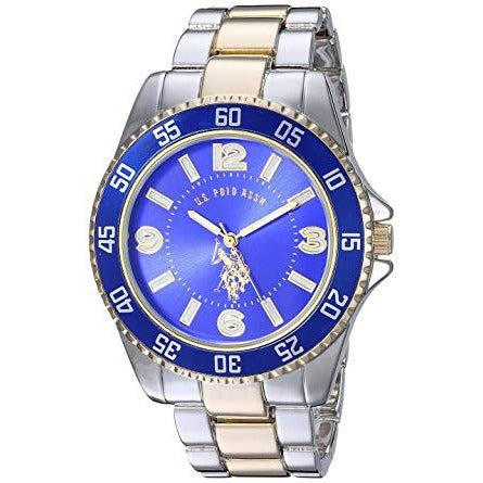 U.S. Polo Assn. Men's Blue Dial Alloy Band Watch - USC80514