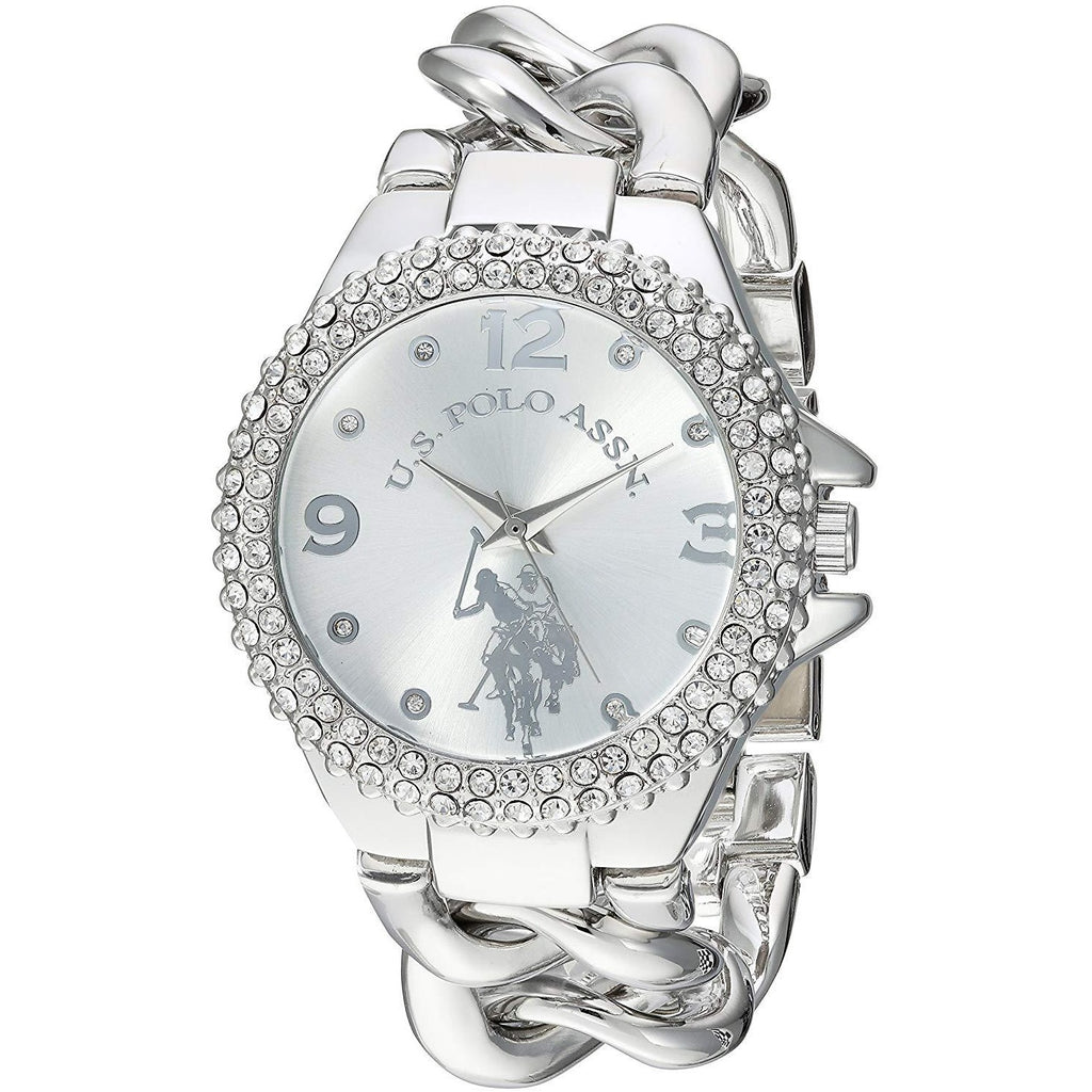 U.S. Polo Assn. Women's Silver Dial Alloy Band Watch - USC40243AZ - 3alababak
