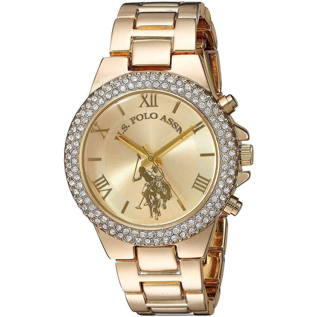 U.S. Polo Assn. Dress Watch For Women Analog Metal - USC40032 - 3alababak