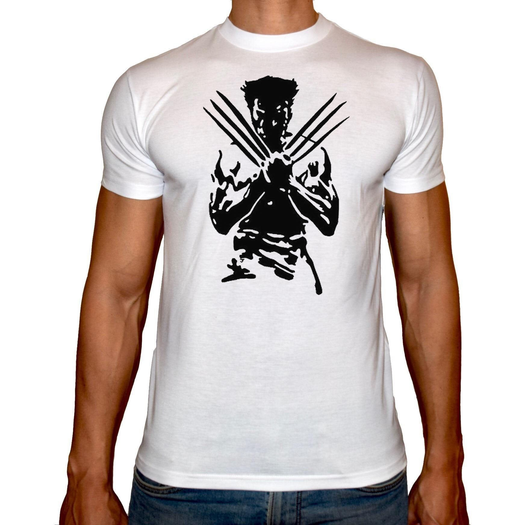 Phoenix WHITE Round Neck Printed T-Shirt Men (Logan)