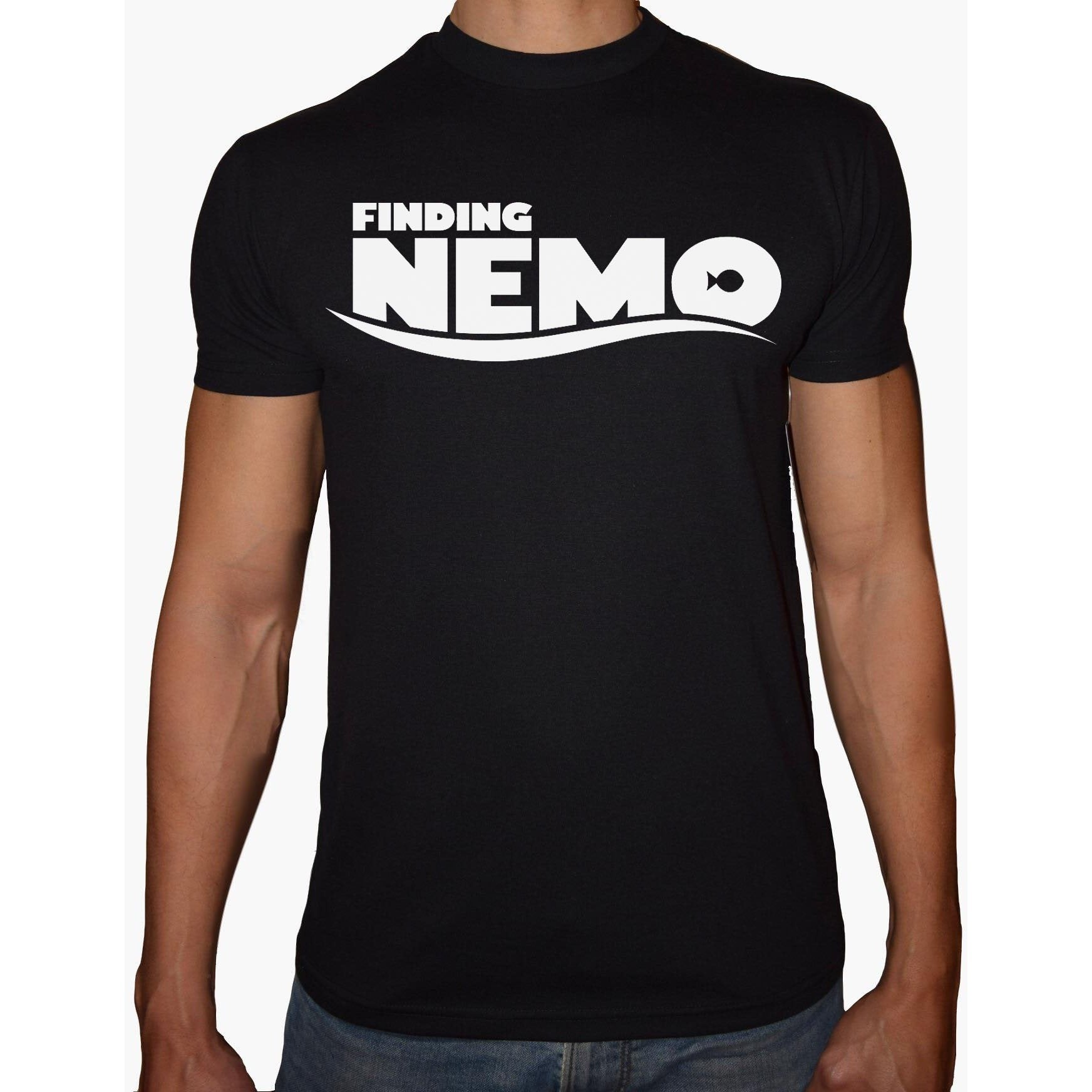 Phoenix BLACK Round Neck Printed T-Shirt Men (Finding nemo)