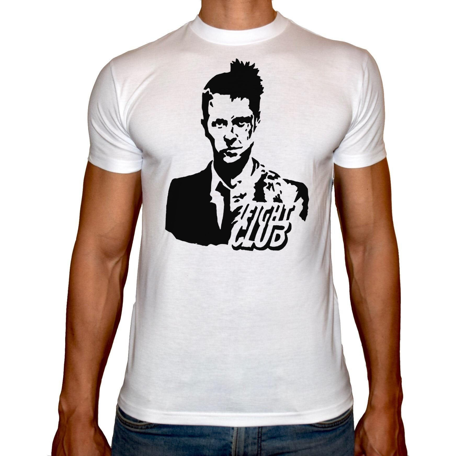 Phoenix WHITE Round Neck Printed T-Shirt Men (Fight club)