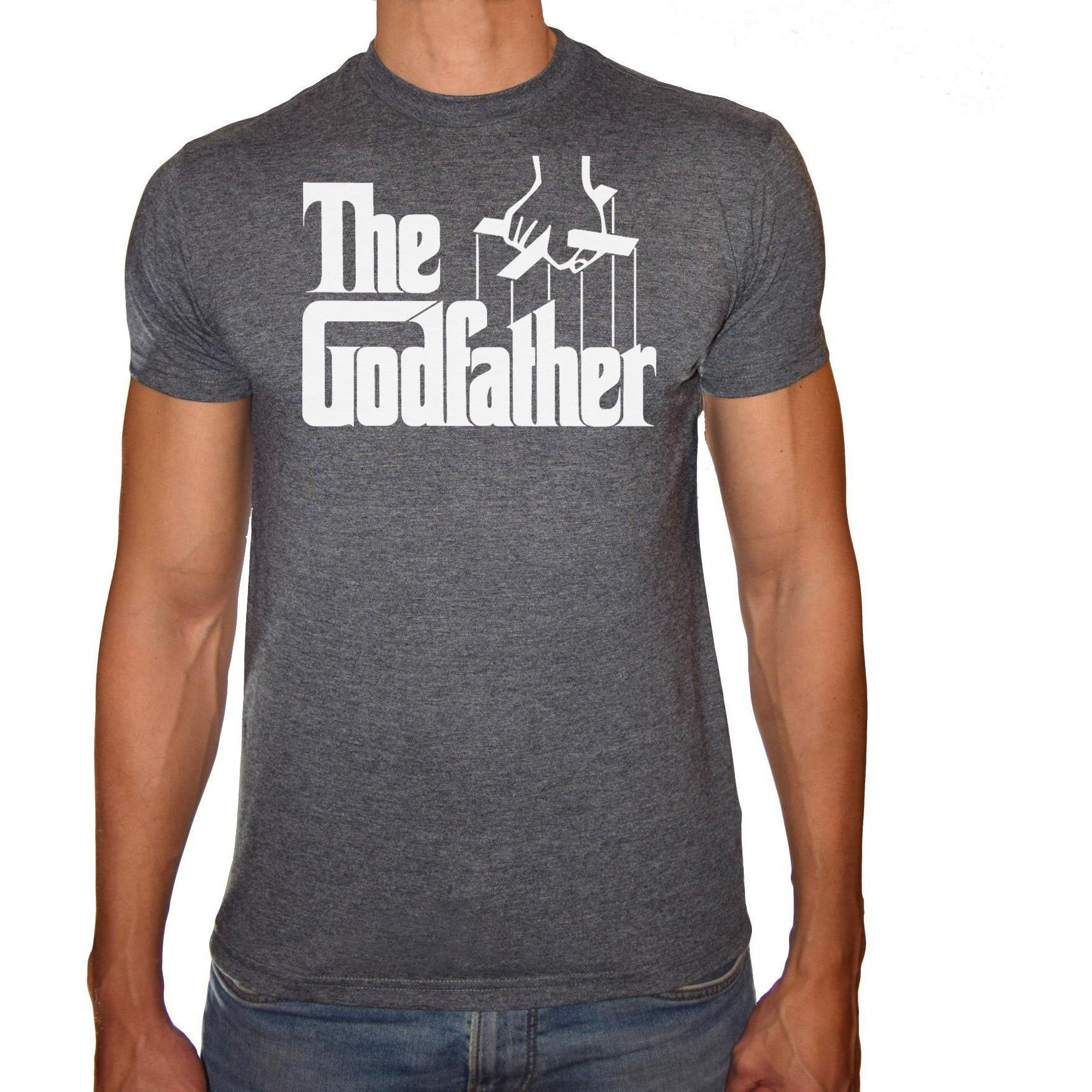 Phoenix CHARCOAL Round Neck Printed T-Shirt Men (The godfather)