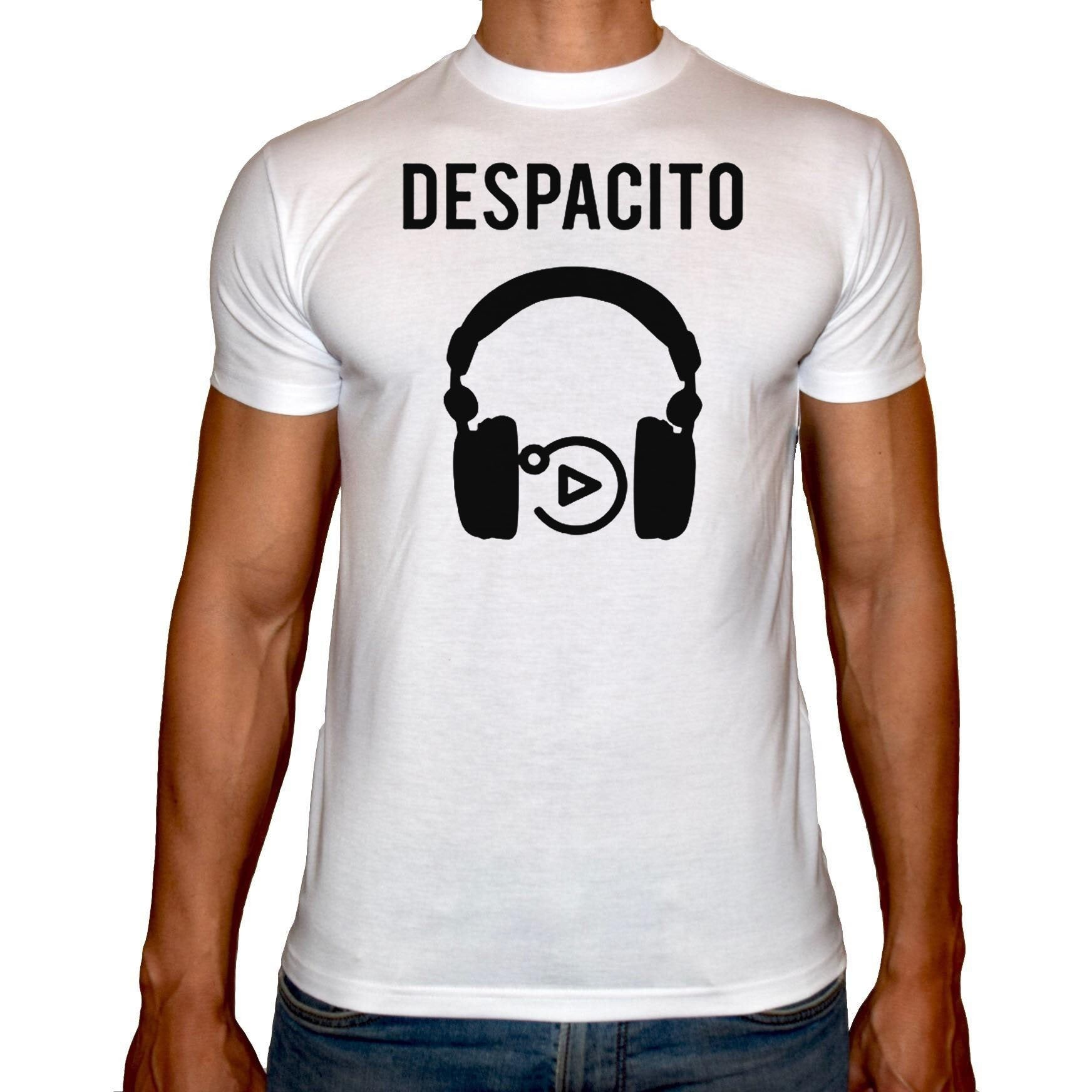 Phoenix WHITE Round Neck Printed T-Shirt Men (Despacito)