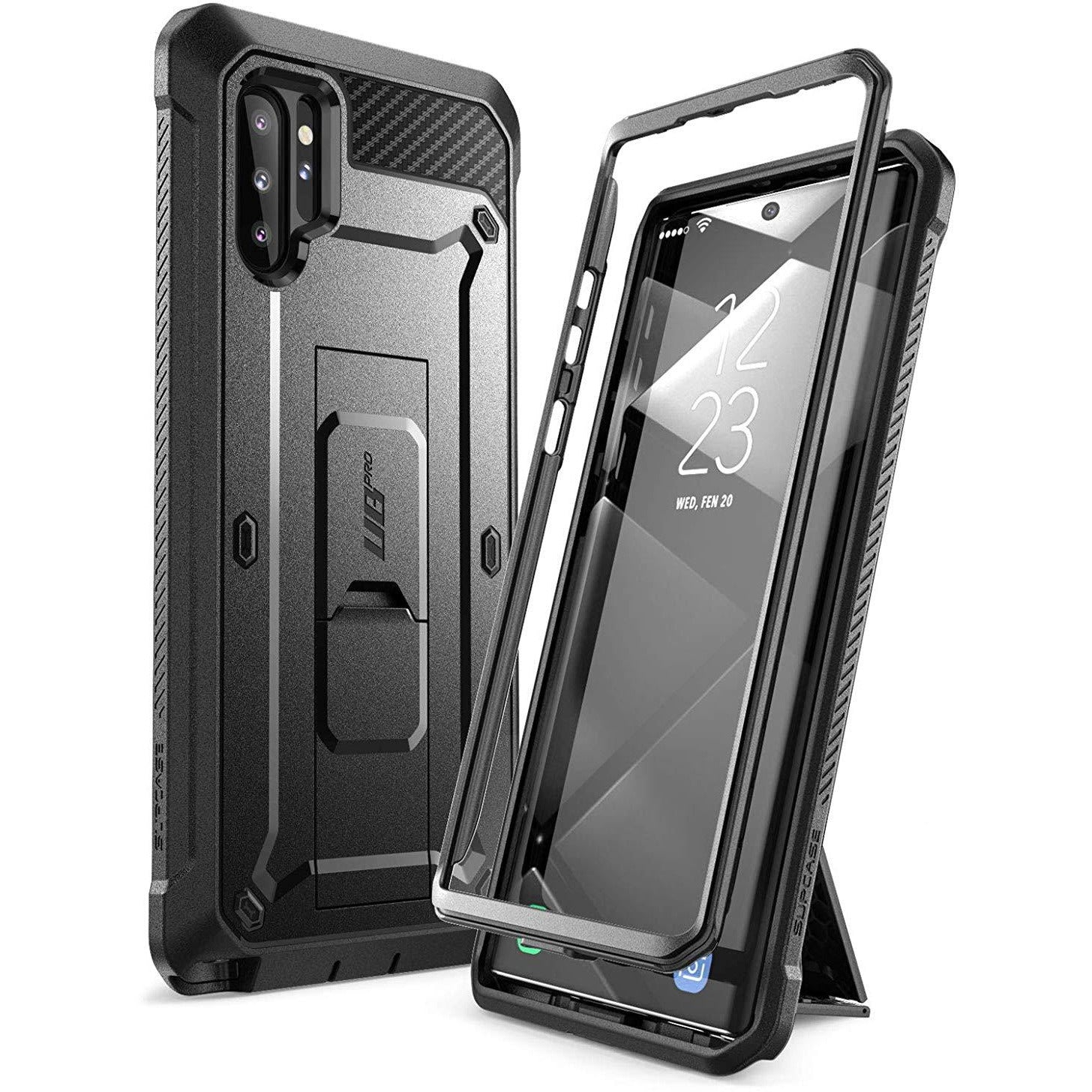 Supcase Unicorn Beetle Pro Series Case Designed for Samsung Galaxy Note 10 Plus/5G, Full-Body Rugged Holster & Kickstand Without Built-in Screen Protector (Black)