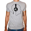Phoenix GREY Round Neck Printed T-Shirt Men (Headphones)