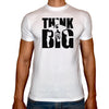 Phoenix WHITE Round Neck Printed T-Shirt Men (Think big)