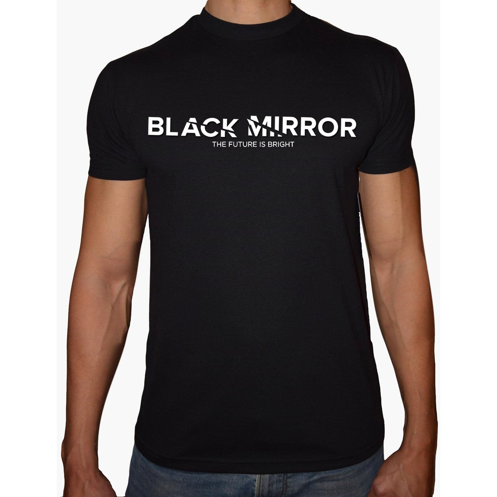 Phoenix BLACK Round Neck Printed T-Shirt Men (Black mirror)