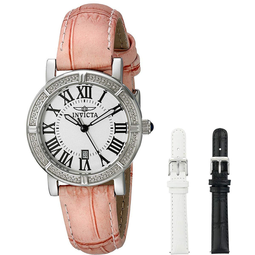 Invicta Women's 13967 Wildflower Stainless Steel Watch with Interchangable Straps