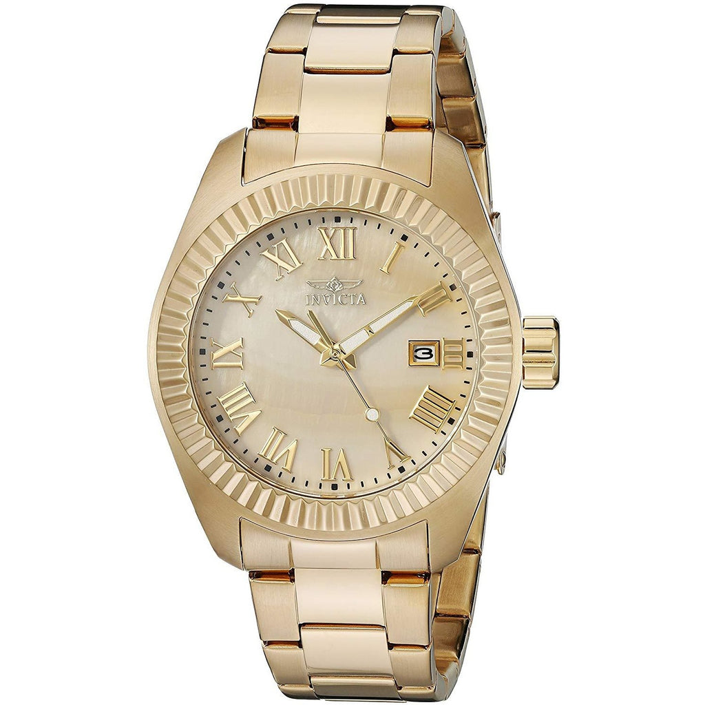 Invicta Women's 20316SYB Angel 18k Gold-Plated Stainless Steel Watch - 3alababak