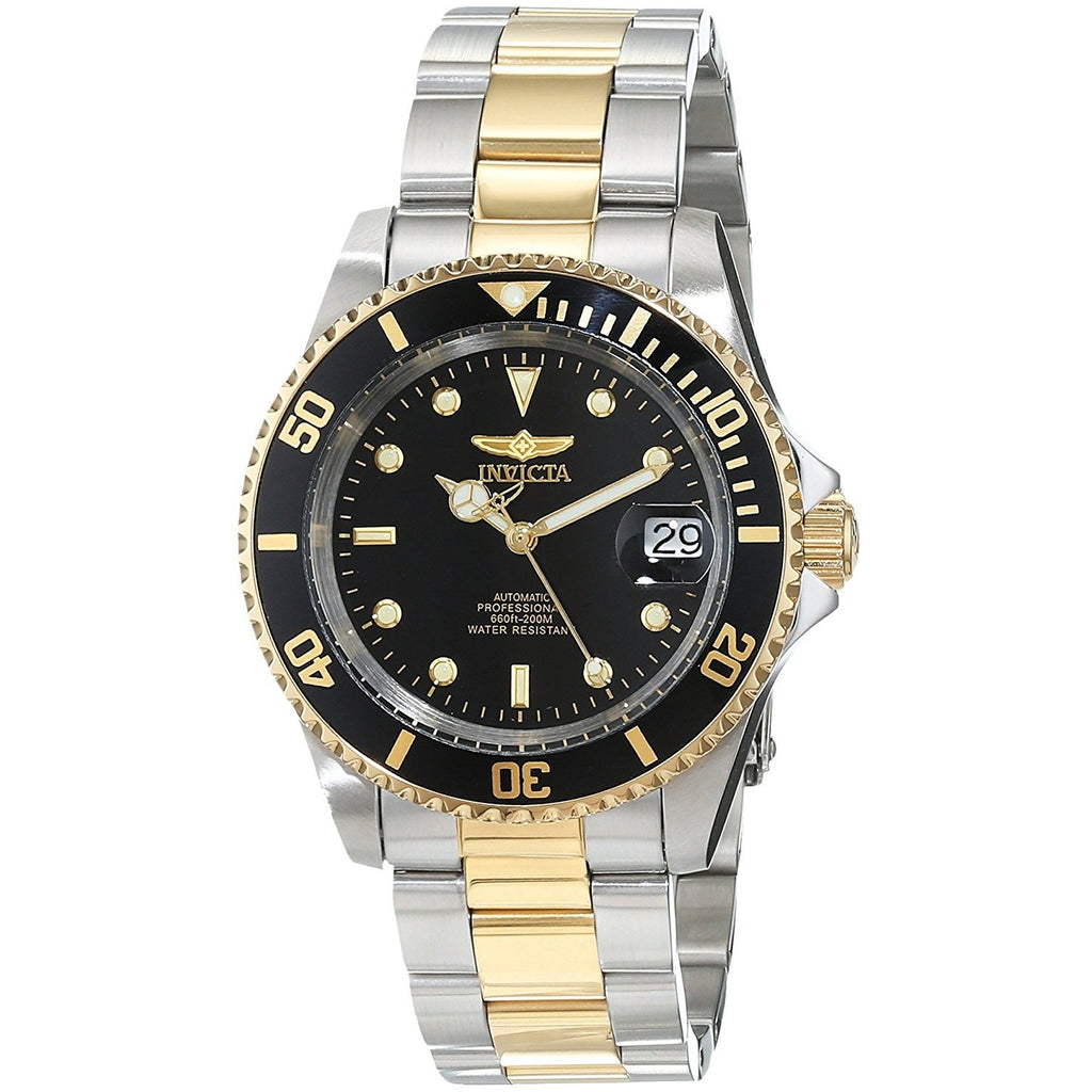 Invicta Men's 8927OB Pro Diver 18k Gold Ion-Plated and Stainless Steel Watch, Two Tone/Black - 3alababak