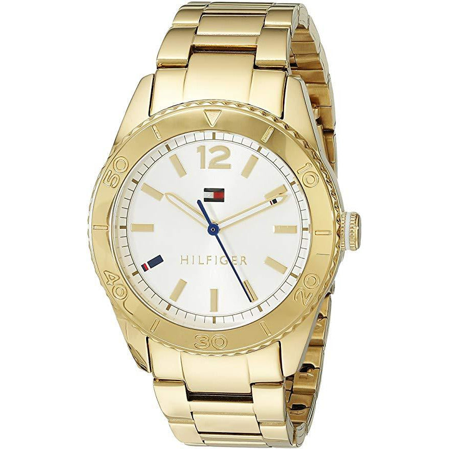 Tommy Hilfiger Women's 1781268 Casual Sport Analog Display Quartz Gold Watch