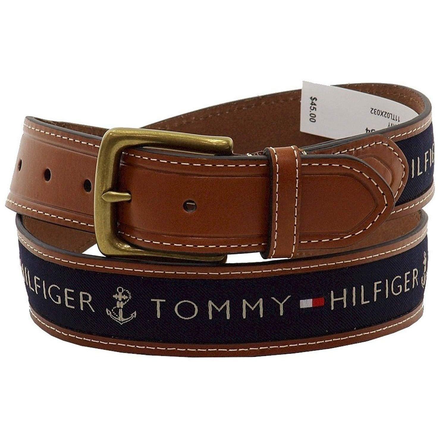 Tommy Hilfiger 11TL02X032 Leather Belt For Men Size 38